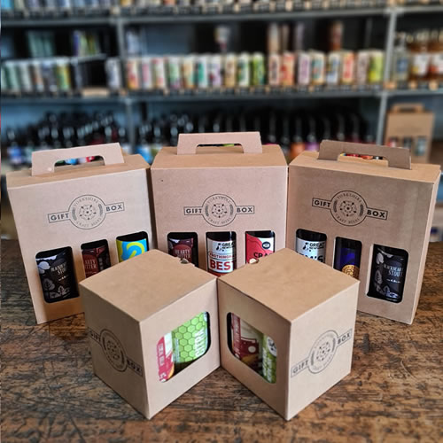 Gift boxes holding 3 or 6 craft beers